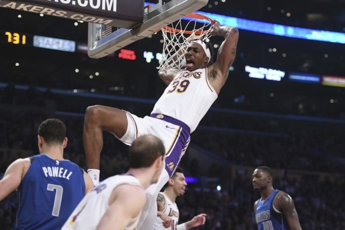 LA Lakers to the NBA Western Conference table after beating Dallas Mavericks 108-95 with Davis scoring 23 points
