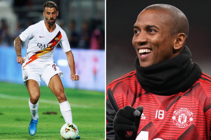 Inter Milan have opted to go with a swap deal for Roma's Leonard Spinazolla meaning that Ashley Young will be staying at Man United and may end up featuring in tonight's FA Cup line up against the Wolves.