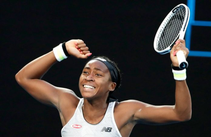 15-year-old Coco Gauff is on her way to her first Grand Slam title having knocked out Australian Open defending champion Naomi Osaka at Rod Lave Arena today.