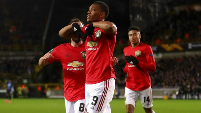 Manchester United were lucky to walk away with a 1-1 draw against Club Brugge thanks to the equaliser scored by Anthony Martial in their Europa first leg match.
