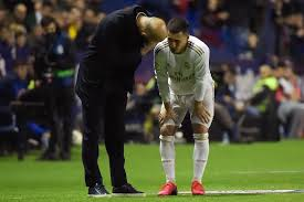 Real Madrid manager Zinedine Zidane has stated that Eden Hazard may not be available for the rest of the season after following the injury he suffered when the club played Levante over the weekend.