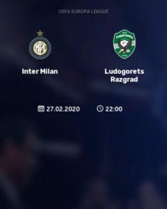 Inter Milan play Ludogorets in Italy