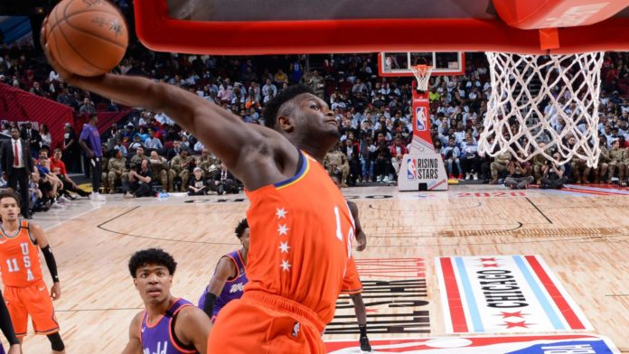 It's NBA All-Star weekend and the action took off on Friday night with the Rising Stars Challenge in Chicago where Zion Williamson left quite an impression.