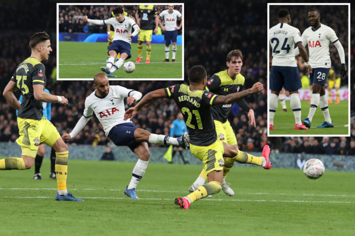 Tottenham narrowly won their game FA Cup match against Southampton 3-2 thanks to a penalty in the final minutes before the end of the second half.