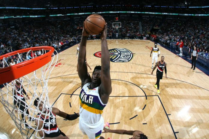 NBA rookies sensation Zion Williamson scored a career-best of 31 points as Western Conference New Orlean Pelicans beat Portland Trail Blazers 138 - 117.