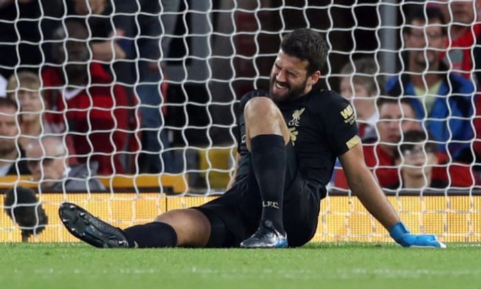 Jurgen Klopp has confirmed that Liverpool goalkeeper Alisson Becker will miss out their Premier League encounter with Bournemouth due to his hip injury.