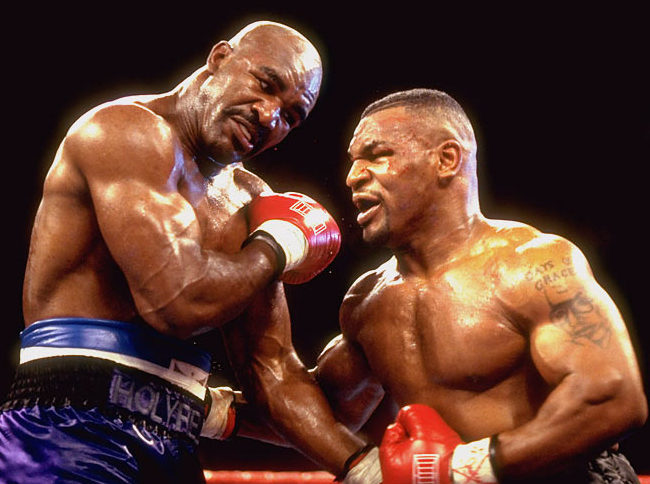 Former heavyweight champion Evander Holyfield said he is open to facing former rival Mike Tyson in a trilogy fight for charity if Tyson asks for the bout.