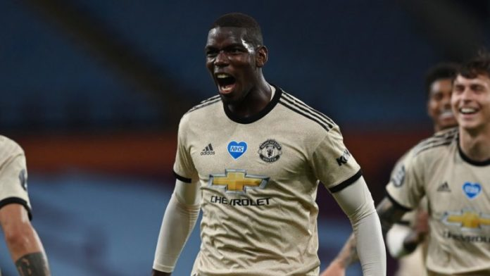 Manchester United should see success as winning the Premier League, not just making the top four, said Paul Pogba after his first goal against Aston Villa.