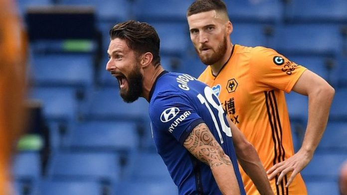 Premier League Chelsea claimed a Champions League place as first-half goals from Mason Mount and Olivier Giroud secured win over Wolverhampton Wanderers.