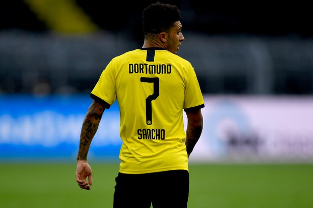 Borussia Dortmund have named forward Jadon Sancho in their squad for this week's training camp in Switzerland, deadline day for Manchester United.