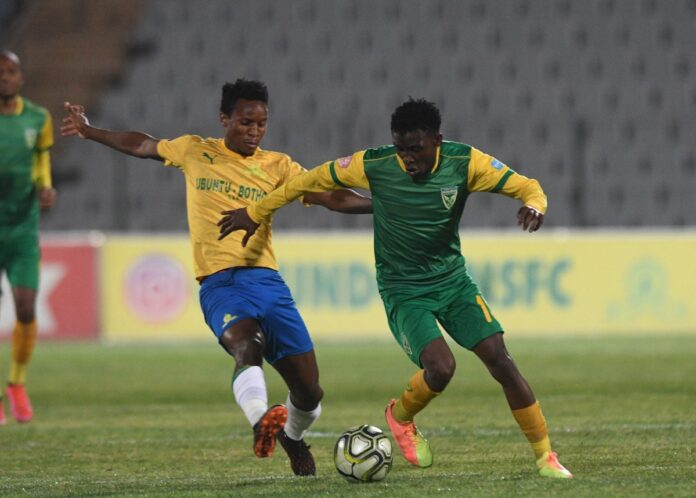 Mamelodi Sundowns secured a hard-fought 1-0 win over Lamontville Golden Arrows in an Absa Premiership match at the Dobsonville Stadium on Monday evening.