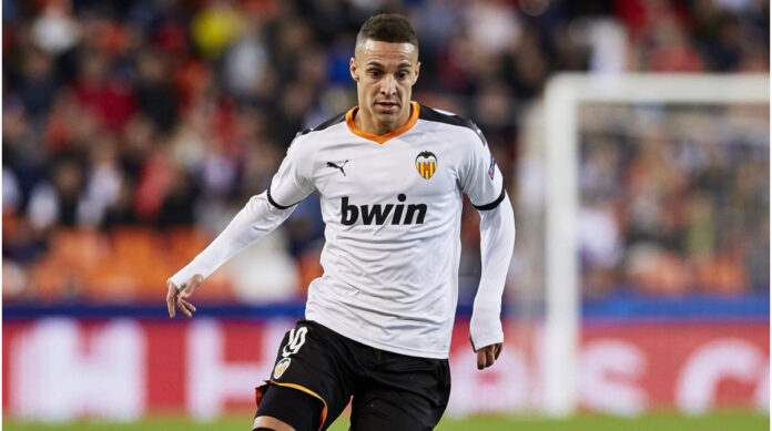Leeds United have signed Spain forward Rodrigo Moreno from Valencia a four-year contract for a club record 29 million euro (£26m) fee.