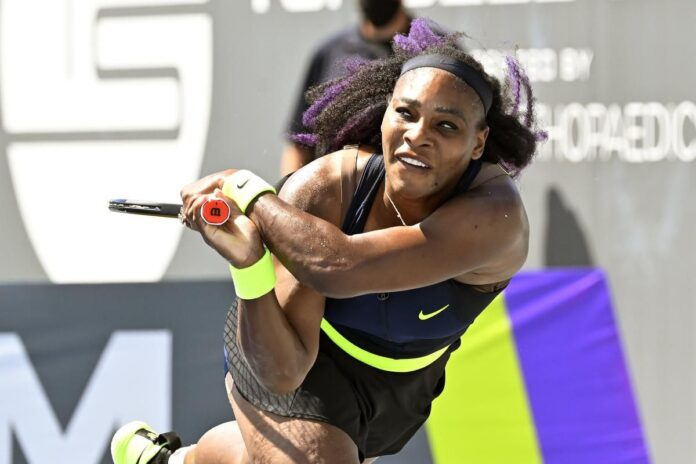 Serena Williams lost in the Top Seed Open quarter-finals after Shelby Rogers came back from a set down to win their rain-delayed match in Lexington.