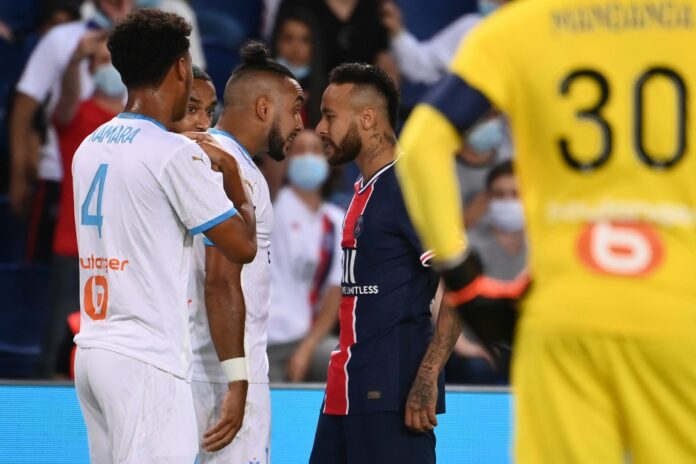 Neymar insisted he had been victim of racism as he was one of five players sent off at the end of Marseille's win over Paris Saint-Germain.
