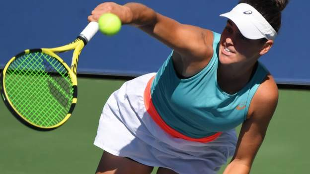 American Jennifer Brady reached her first Grand Slam quarter-final by disposing of 2016 champion Angelique Kerber at the US Open.