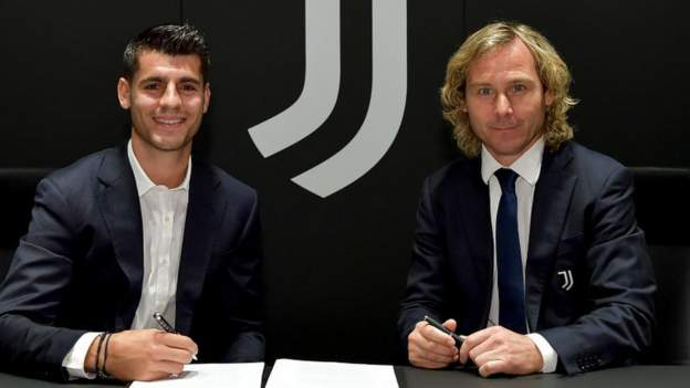 Juventus have completed a loan deal with Atletico Madrid to bring striker Alvaro Morata back to the club.