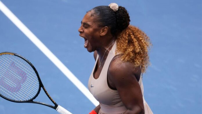 Six-time champion Serena Williams battled through a challenging three-set test against Greek 15th seed Maria Sakkari to reach the US Open quarter-finals.