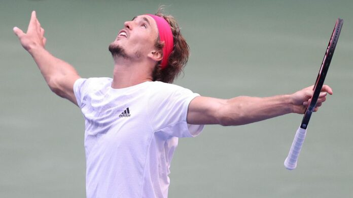 German fifth seed Alexander Zverev fought back from a set down to reach his first US Open semi-final by beating a battling Borna Coric.