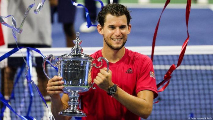 Dominic Thiem clinched his first Grand Slam title after a gritty fightback from two sets down stunned Alexander Zverev in the US Open final.