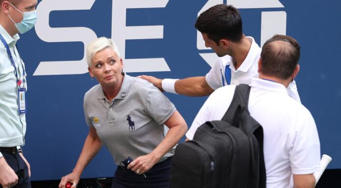 Novak Djokovic was dramatically disqualified from the US Open on Sunday after accidentally striking a female lines judge with a ball in frustration.