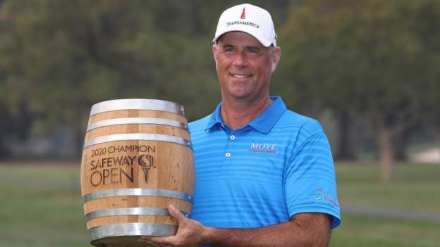 Stewart Cink claimed a first win since 2009 with a two-shot victory at the PGA Tour's Safeway Open in California.
