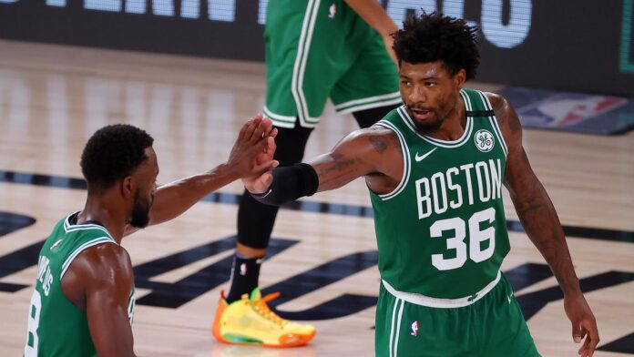 The Boston Celtics outscored the Miami Heat 70-50 in the second half to stay alive in the Eastern Conference finals.