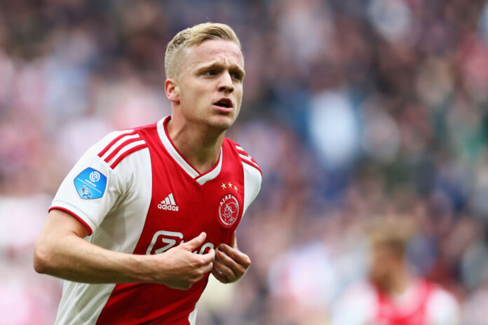 Manchester United have signed Netherlands midfielder Donny van de Beek from Ajax for £35m, plus £5m in add-ons, on a five-year contract.
