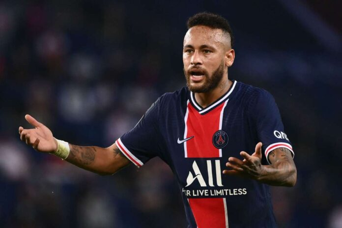 Paris Saint-Germain Neymar has been banned for two games after being sent off against Marseille, French football authorities investigate accusation of racial abuse.
