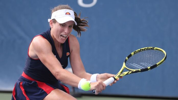 British No 1 Johanna Konta has been knocked out of the US Open 2-6 7-6 (7-5) 6-4 in the second round by the world No 77 Sorana Cirstea.