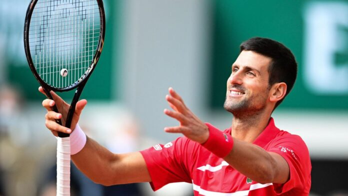 Novak Djokovic continued his dominant start to the French Open with a ruthless straight-set win against Lithuanian world number 66 Ricardas Berankis in the second round.