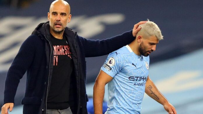 Manchester City manager Pep Guardiola says Sergio Aguero can still play an important role for the club after returning from a serious knee injury but the Argentine striker has to show he can deliver on the pitch if he is to earn a new contract.