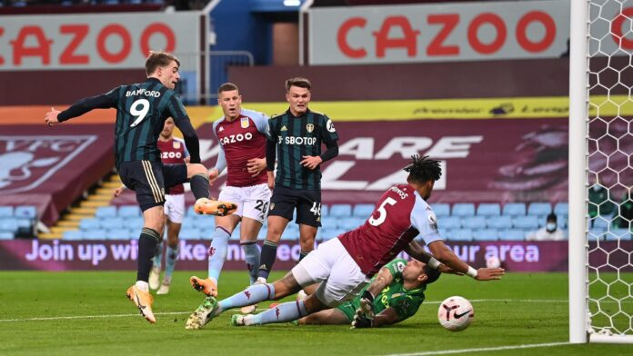 Leeds United has ended the perfect Aston Villa winning start and ruined their chance of going top of the Premier League thanks to a brilliant Patrick Bamford hat-trick.