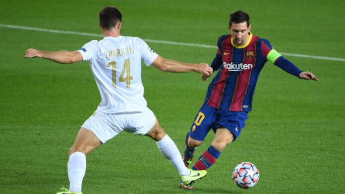 Lionel Messi scored in a joint record 16th Champions League season and 17-year-old Pedri netted his first senior goal as Barcelona beat Ferencvaros.