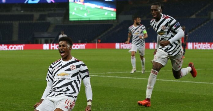 Marcus Rashford repeated his late heroics against Paris Saint-Germain with a superb winner as Manchester United marked their return to the Champions League with a fine win at the home of last season's beaten finalists.