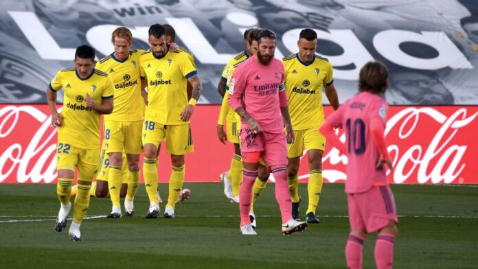 Spanish champions Real Madrid suffered a shock 1-0 loss at home to promoted Cadiz on Saturday, their first La Liga defeat in over seven months.
