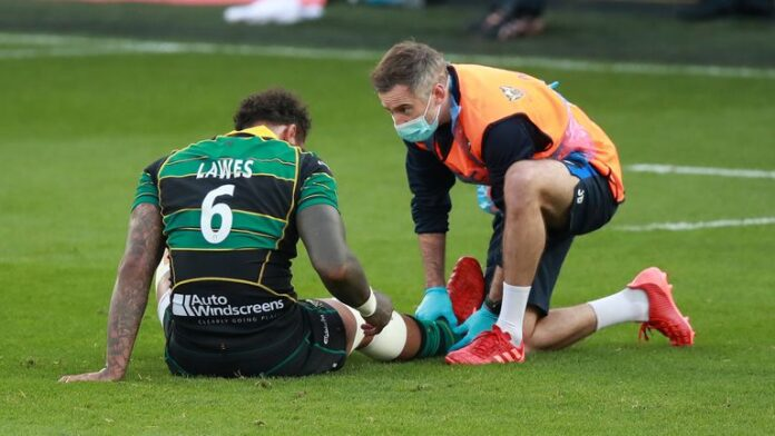 Northampton lock Courtney Lawes will miss England's autumn schedule with an ankle injury that will keep him out for about 12 weeks.