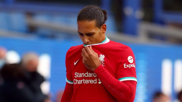 Everton boss Carlo Ancelotti has apologised for the injury suffered by Liverpool defender Virgil van Dijk during Saturday's Merseyside derby.