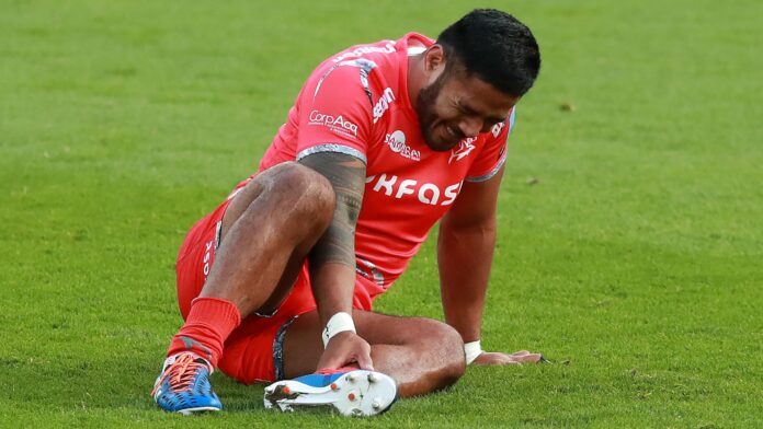 England centre Manu Tuilagi has been ruled out for six months with a torn Achilles tendon, Sale Sharks director of rugby Steve Diamond announced.